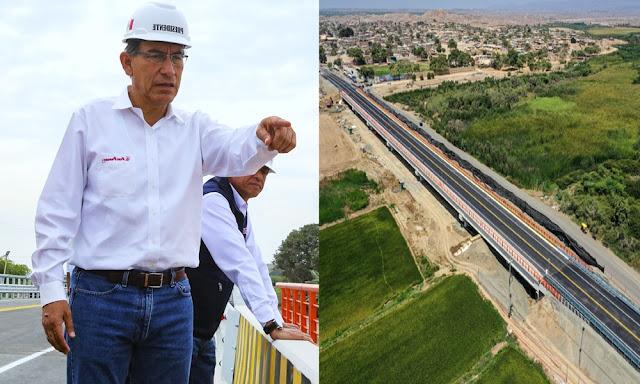 Martín Vizcarra, lidera la puesta en servicio del puente Ignacio Escudero