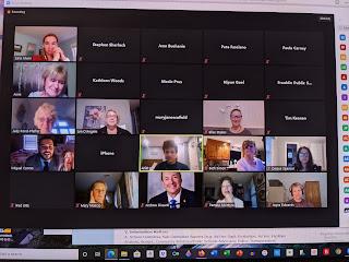 screen grab of virtual meeting held JUne 9, 2020
