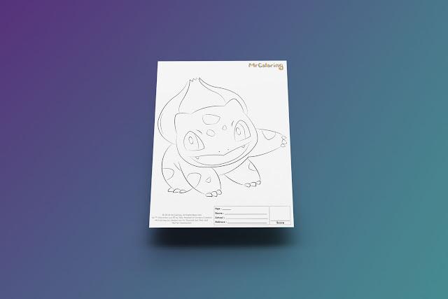Free Printable Anime Pokemon bulbasaur Coloriage Outline Blank Coloring Page pdf For Kids Kindergarten Preschool toddler coloring sheets 3