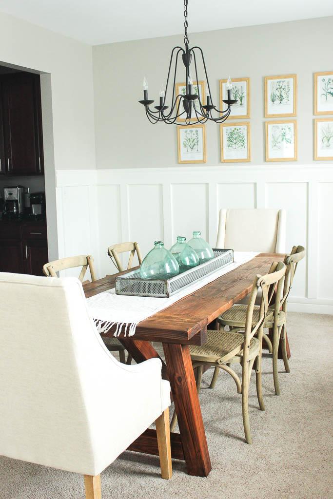 awkward corner space dining room
