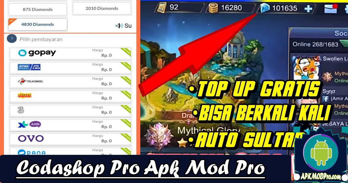 Codashop Pro Mod Apk ( Belanja Gratis ) Terbaru 2020