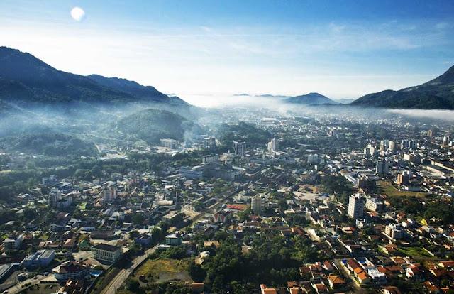 Vista aérea de Jaraguá do Sul