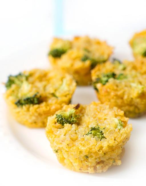 Broccoli Cheddar Quinoa Cups