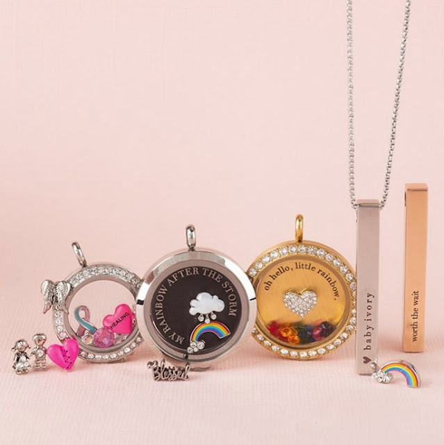 Create a personalized Rainbow Baby Living Locket at StoriedCharms.com