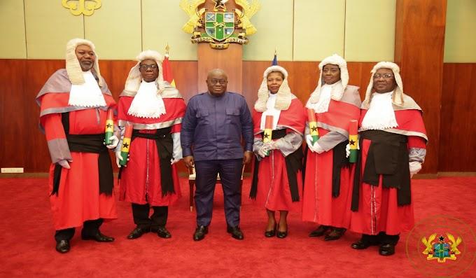 President Akufo-Addo Swears In 5 Appeals Court Judges