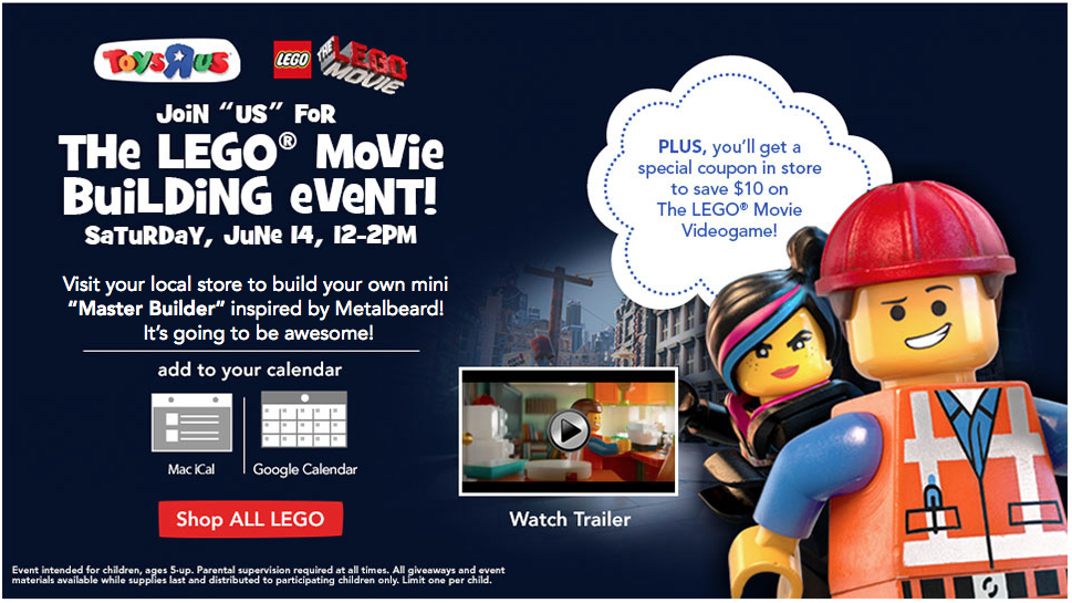 FREE  LEGO Movie Building Even...
