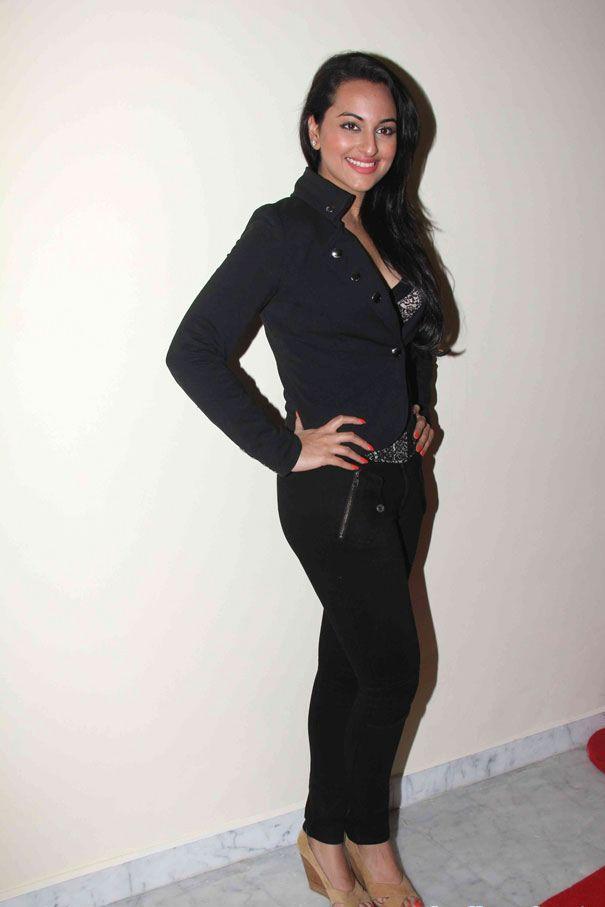 Sonakshi Sinha Photos In Black Dress