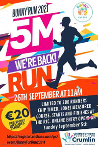 Charity 5-mile in Waterford City - 26th Sept 2021