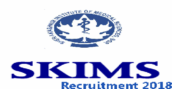 SKIMS Jobs Recruitment 2019 various posts.