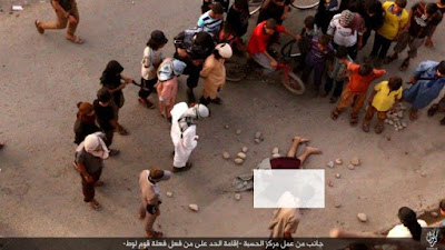 Iraq, July 2016. A gay man has been stoned to death after being thrown off a building top by ISIS militants. Iraq.