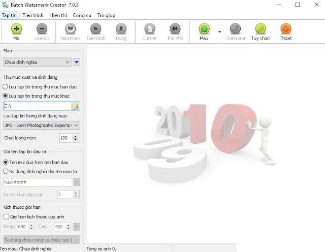 Tải Batch Watermark Creator Full - Đóng dấu ảnh hàng loạt