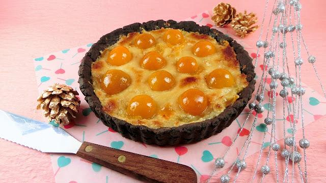 つやつや金柑の甘露煮のアーモンドクリームタルト