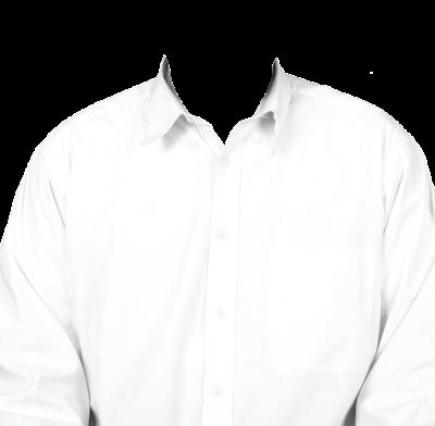 Contoh template kemeja putih tanpa dasi