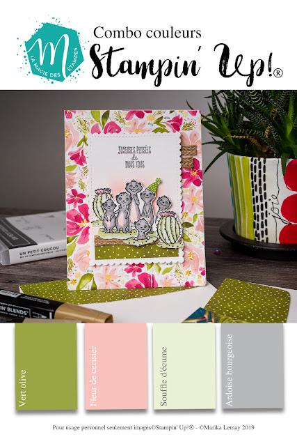 Fichier à imprimer avec une combinaison de couleurs Stampin' Up!