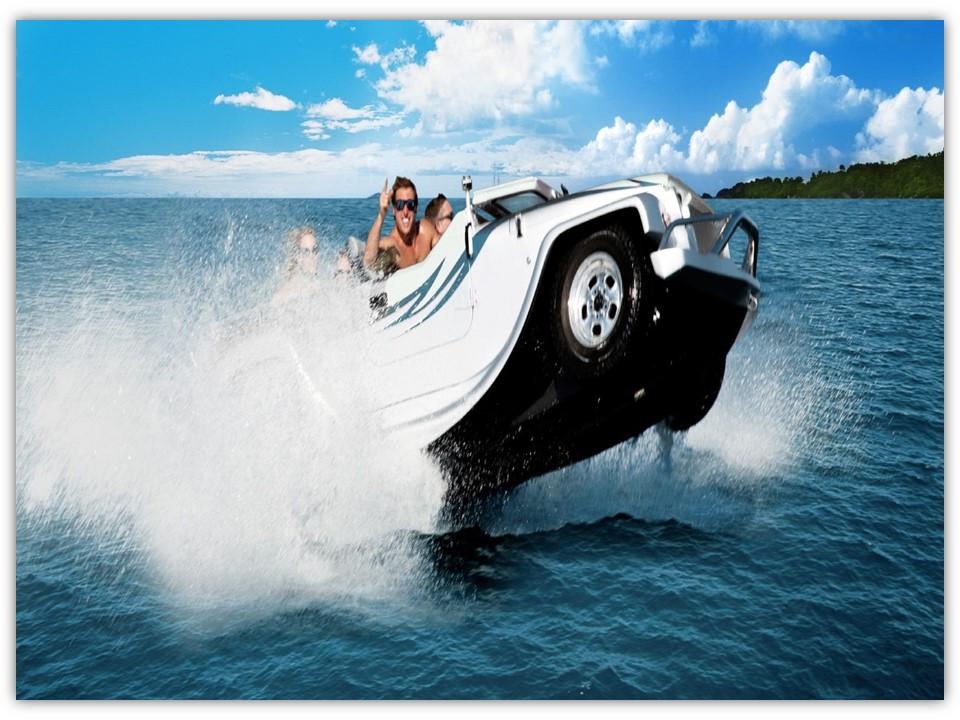 watercar mampu menampung maksimal 4 penumpang