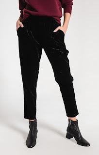 crushed velvet trouser bird bee detroit