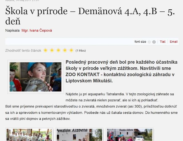 http://zshu.sk/index.php/nase-aktivity/aktivity-2016-2017/item/654-skola-v-prirode-demanova-4-a-4-b-5-den