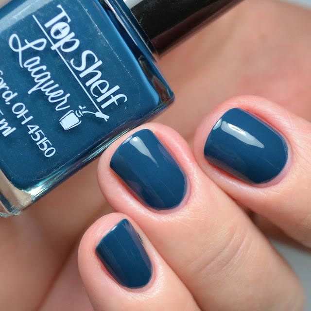 blue nail polish swatch