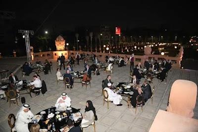 41 سفيرا من دول العالم يزورون قصر البارون امبان ويحضرون حفل عشاء بالحديقة على انغام الموسيقى