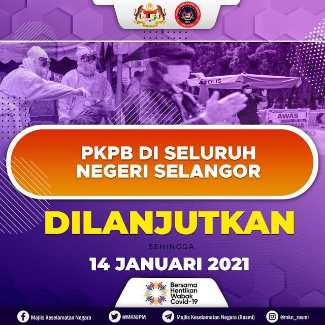 PKPB Di Selangor Dan Kuala Lumpur Dilanjutkan 2 Minggu Lagi