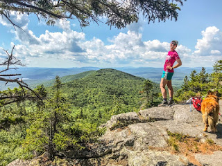 Enjoying the view on Mount Morgan