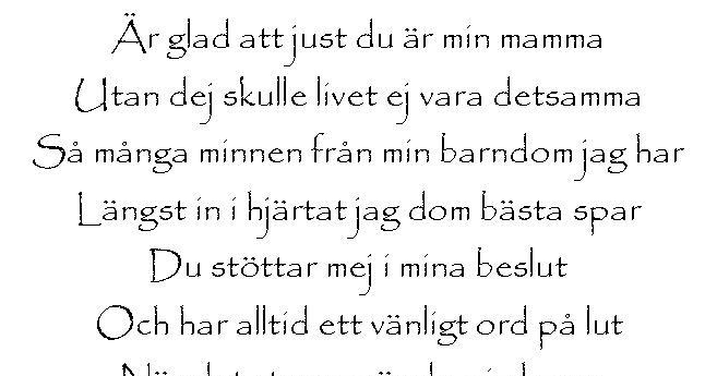 Til mamma dikt