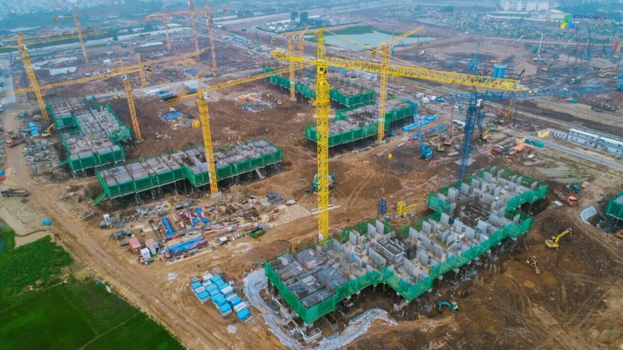 Tiến độ xây dựng Vinhomes Smart City tháng 5/2019