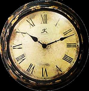 Zoom dise o y fotografia relojes vintage para scrap con for Reloj de pared vintage 60cm