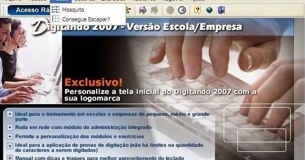 digitando 2007 serial