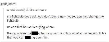 relationships are like a house comment