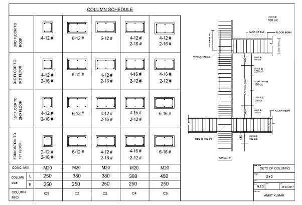 Column details hindi