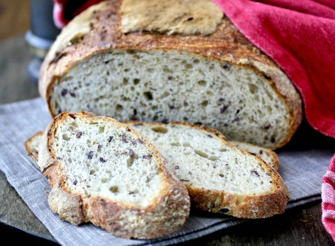 Wild Rice and Flax Seed Bread sliced