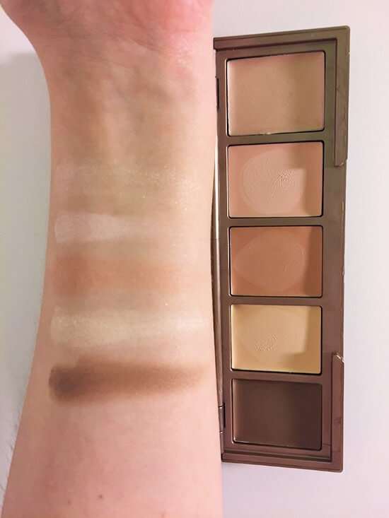 Urban Decay Naked Skin Shapeshifter cream swatches
