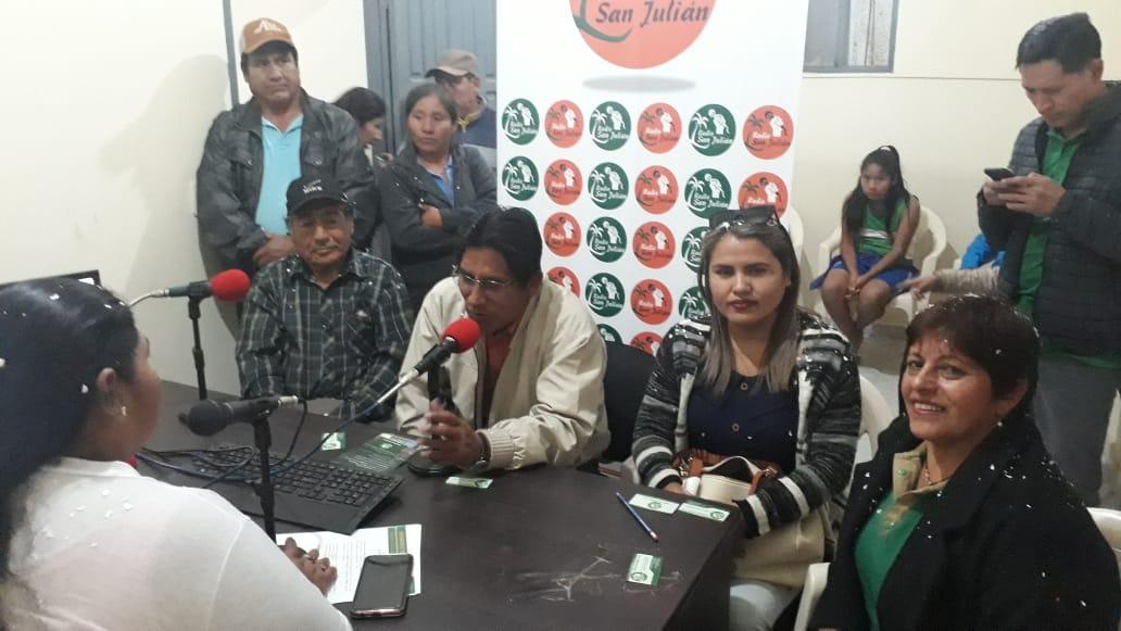 Zacarías Flores acompañando al candidato Félix Patzi / MTS