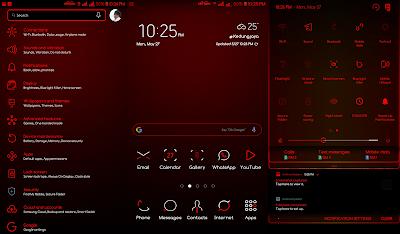 Delirium X Red Flame Samsung Theme apk