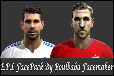 PES 2013 E.P.L FacePack By Boulbaba FaceMaker