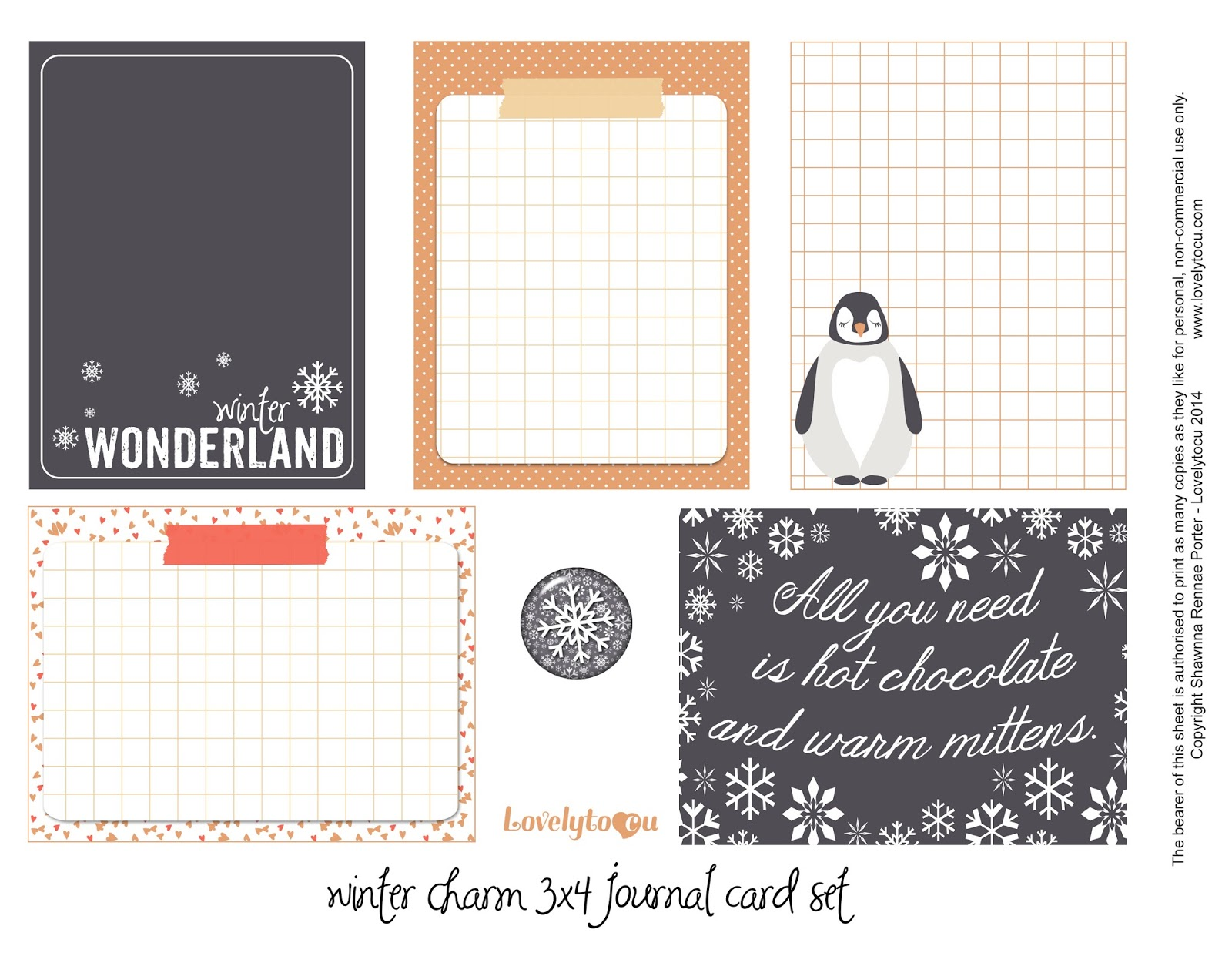 Free journal card printables, Lovelytocu.ca