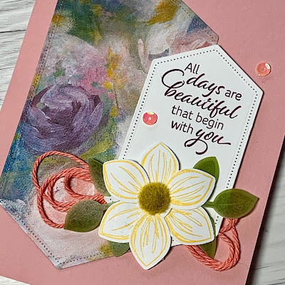 Card sample using Perennial Essence Designer Series Paper from Stampin' Up!