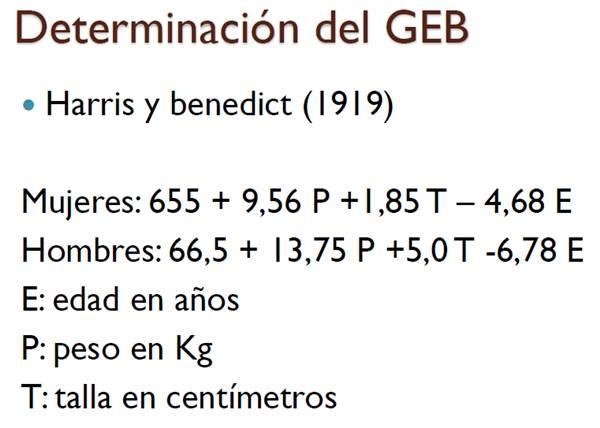 requerimiento energético basal formula