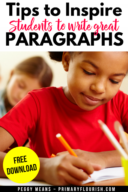 Are you struggling to improve your students' paragraph writing skills? This writing process is an effective way to teach your students how to writing well-organized paragraphs. Perfect for first, second, and third grade classrooms! #paragraph, #paragraphwriting, #studentwriting, #teacherspayteachers, #teaching, #homeschool