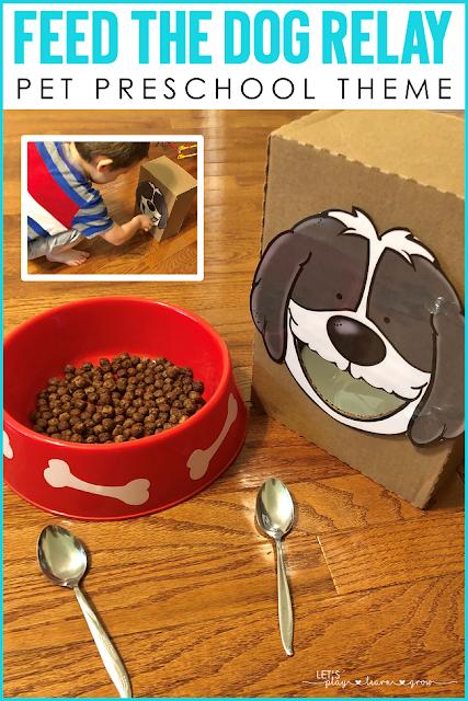 Feed the Dog Relay Preschool Pets Activity