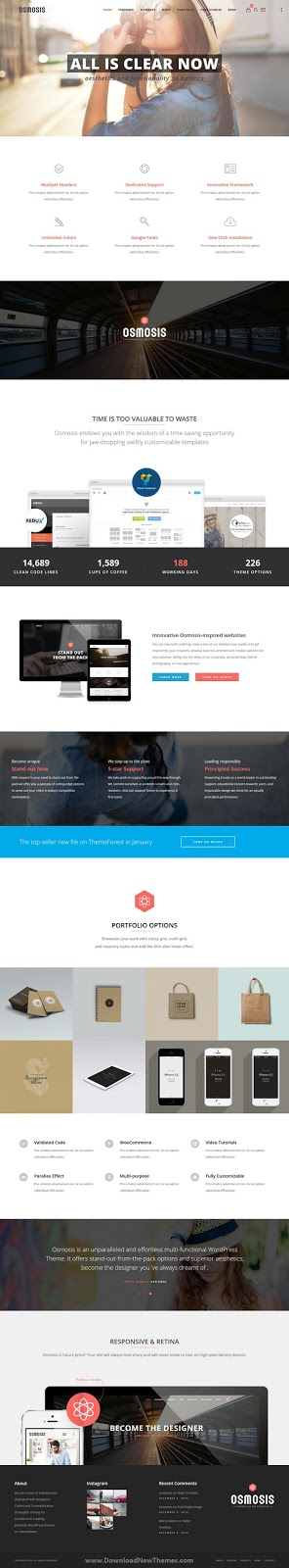 Responsive Multi-Purpose WordPress Theme