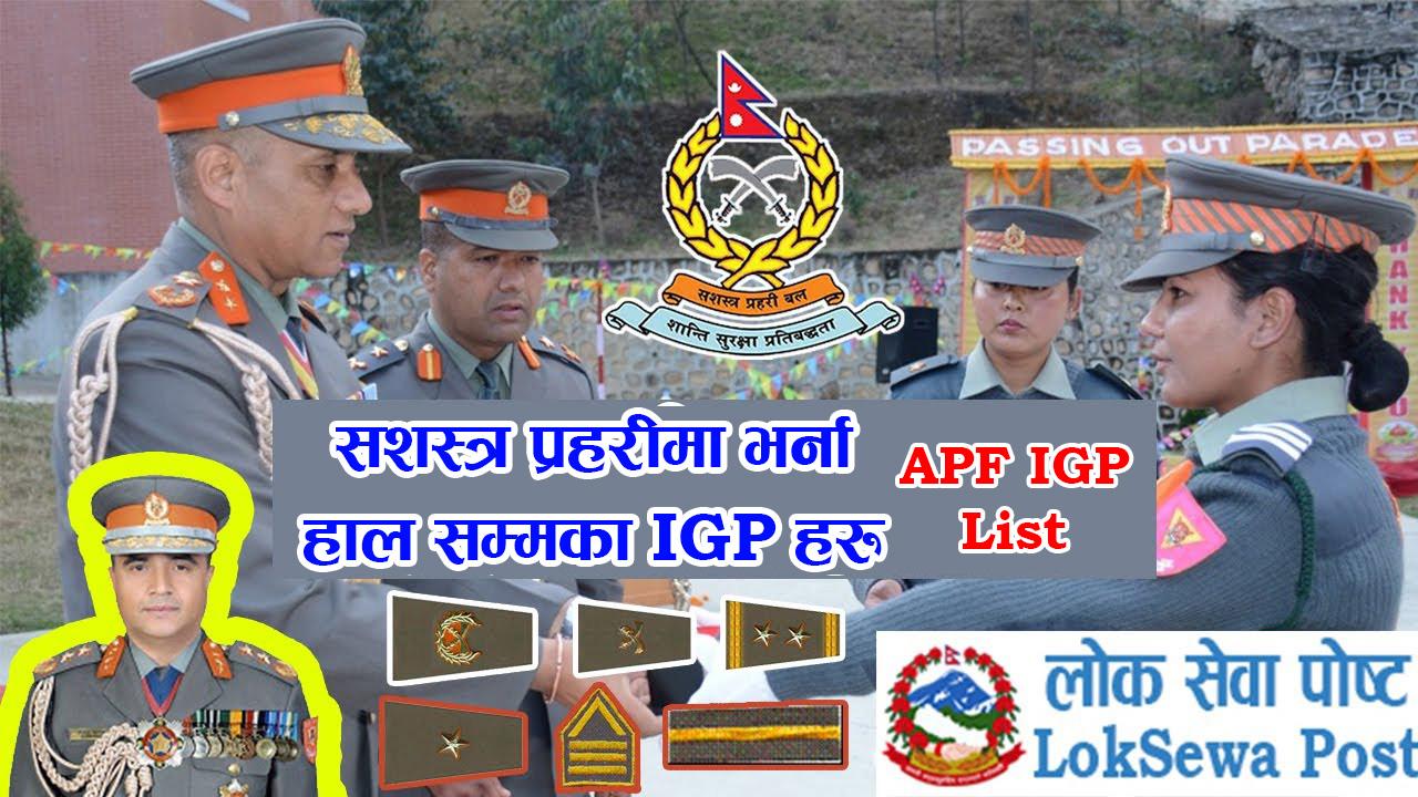APF IGP List