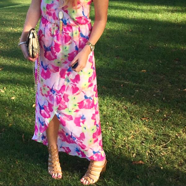 lush tulip dress, floral dress, floral, maxi, dress, justfab, summer wedding guest