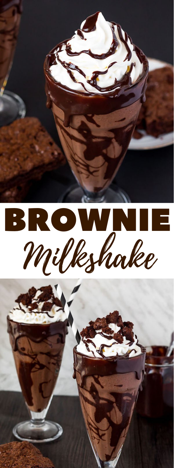 BROWNIE MILKSHAKE #milk #drinks