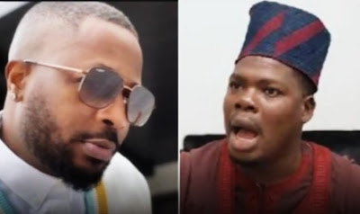See What Comedian Macaroni Did To Tunde Ednut On His Birthday, After He Blocked Him