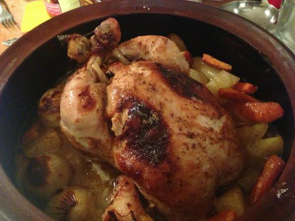 Пиле с лимон и зеленчуци
