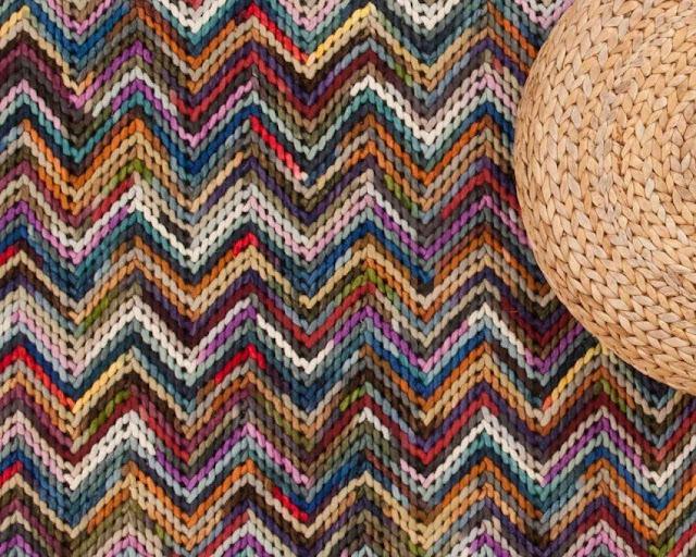 La casa Hygge: tappeti fatti a mano