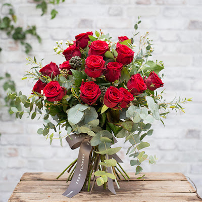 Red rose bouquet for Valentines day