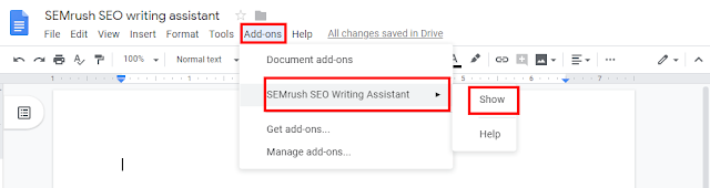 semrush-seo-writing-assistant-chrome,  What is SEMrush SEO writing assistant SWA, Is this paid, Where we can use it, Why we should it on Google Docs, Yoast vs SEMrush SWA, What are the benefits of using SWA, What is the option in it, How to use in Google Docs,